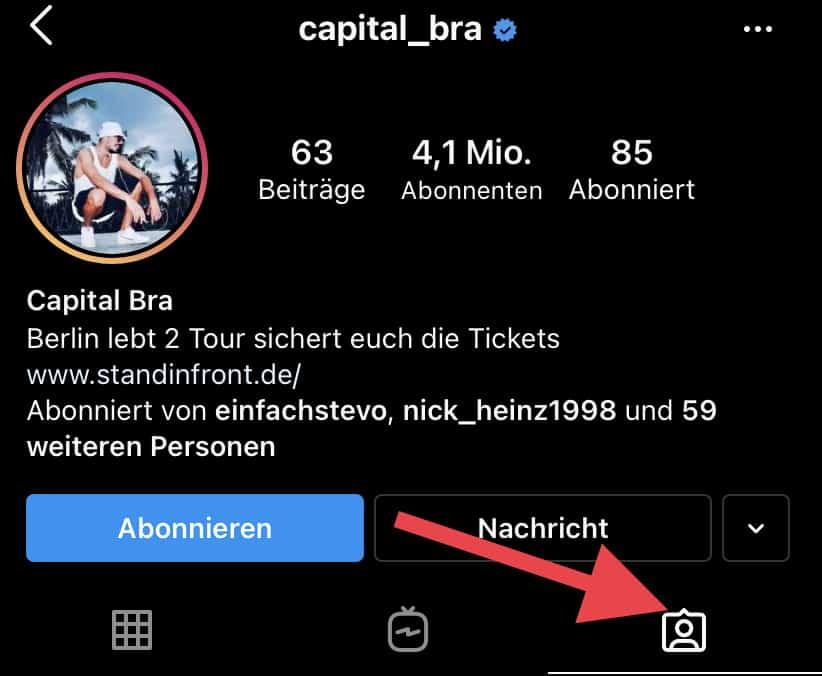 Instagram Markierungen Sehen