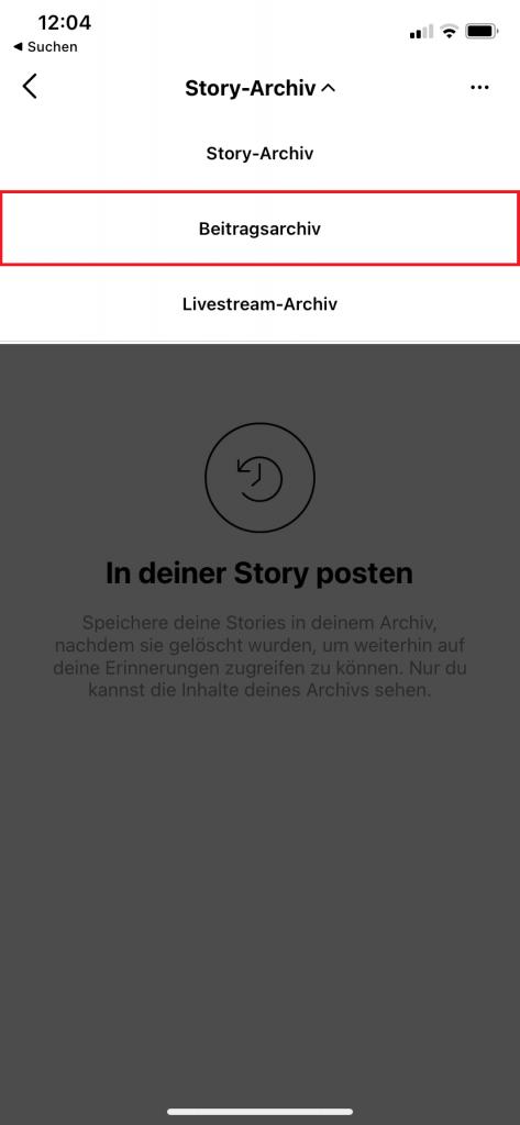 Instagram archivierte Bilder wiederherstellen