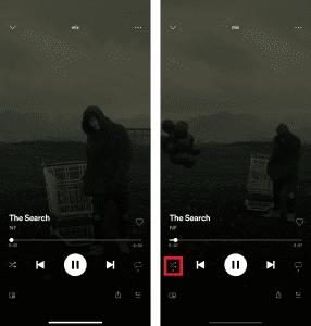 Spotify Shuffel aktivieren oder deaktivieren
